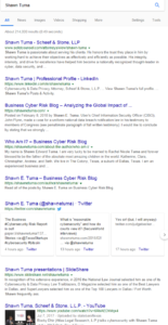 Shawn Tuma Google SERP - Executive Branding